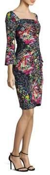 Etro Mille Fleur Ruched Dress