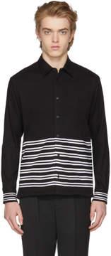 McQ Black Half Stripe Shirt