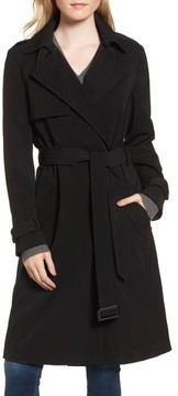 Donna Karan Women's Dkny French Twill Water Resistant Trench Coat