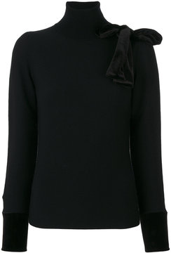 Emporio Armani mock neck pullover with bow