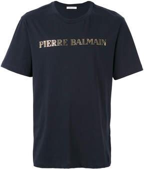 Pierre Balmain logo print T-shirt
