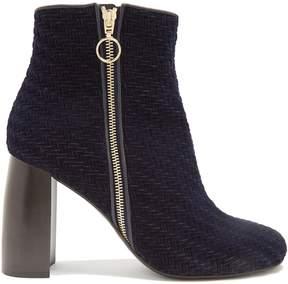 Stella McCartney Block-heel velvet ankle boots