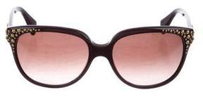 Alexander McQueen Embellished Square Sunglasses
