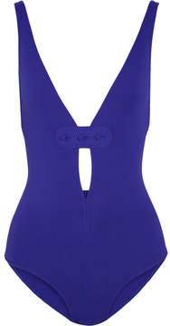 Eres Magic Georgia Button-embellished Swimsuit - Blue
