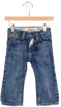 John Galliano Boys' Medium Wash Logo Jeans