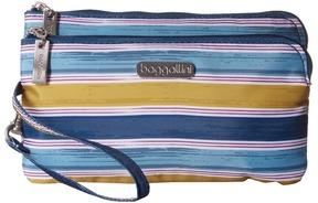 Baggallini RFID Double Zip Wristlet Wristlet Handbags