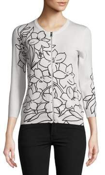 Context Floral Zip Sweater