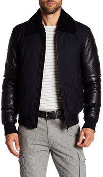 Mackage Cezar Genuine Shearling Lined Leather Jacket