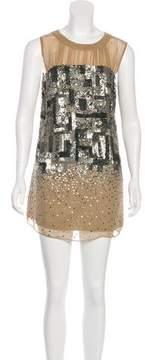 ABS by Allen Schwartz Embellished Mini Dress