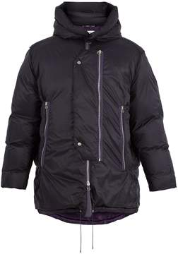 Oamc Detachable-hood padded-down coat