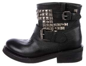 Ash Leather Studded Ankle Boots