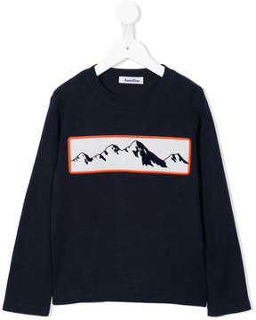 Familiar mountain print sweatshirt