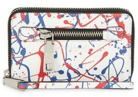 Marc Jacobs Zip Phone Wristlet - WHITE MULTI - STYLE