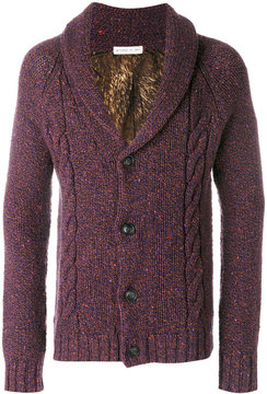 Etro cable knit shawl cardigan