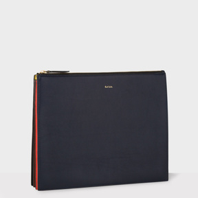 Paul Smith Men's Navy 'Concertina' Document Pouch