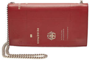 Vetements Leather Passport Wallet with Chain Handle