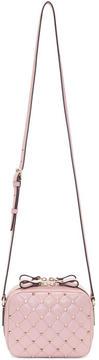 Valentino Pink Garavani Noir Rockstud Spike Camera Bag