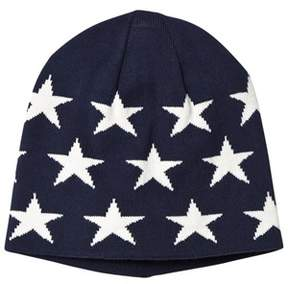 Gant Navy and White Star Beanie