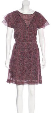 Band Of Outsiders Short Sleeve Floral Print Dress