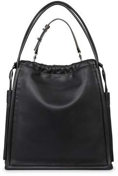 Allsaints Dive Lambskin Leather Tote - Black