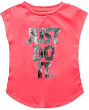Nike Just Do It-Print T-Shirt, Little Girls