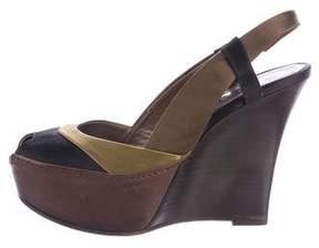 Marni Satin Wedge Sandals