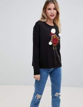 Brave Soul Holidays Robin Sweater