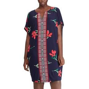 Chaps Plus Size Floral & Mosaic Print Shift Dress