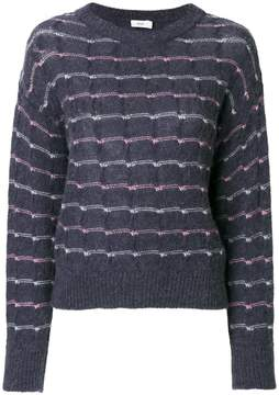 Closed embroidered knitted top