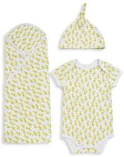 Roberta Roller Rabbit Baby's Three-Piece Bundle of Joy Duck Cotton Gift Set