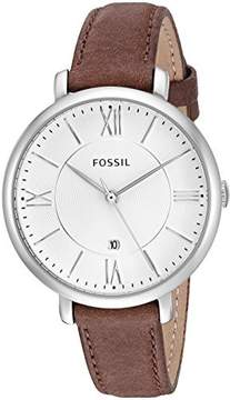 Fossil Women's ES3708 Jacqueline Leather Watch, 36mm