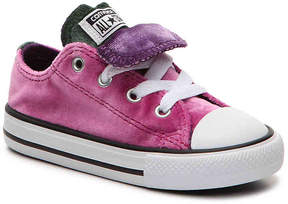 Converse Girls Chuck Taylor All Star Double Tongue Toddler Velvet Sneaker