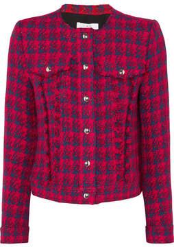 IRO Quilombe Metallic Frayed Tweed Jacket - Red