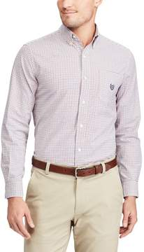 Chaps Men's Classic-Fit Tattersall-Checked Stretch Oxford Button-Down Shirt