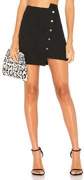 J.o.a. Button Up Asymmetric Hem Skirt