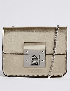 Marks and Spencer Twist Lock Boxy Cross Body Bag