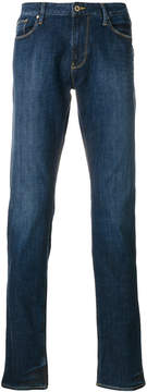 Armani Jeans stonewashed slim-fit jeans