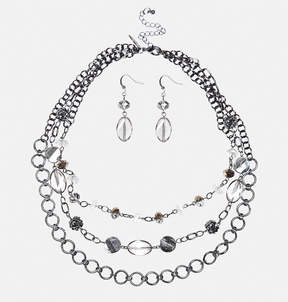Avenue Irridescent Necklace Earring Set