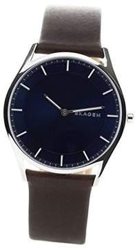 Skagen SKW6237 Mens Holst Dark Brown Leather Strap Watch