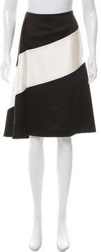 Celine Two-Tone Silk Skirt