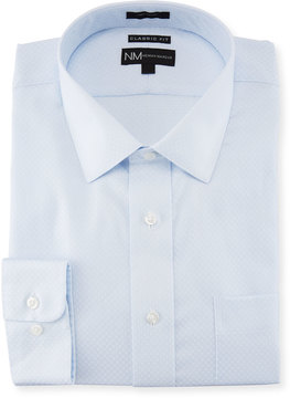 Neiman Marcus Classic-Fit Regular-Finish Tonal Dobby Dress Shirt
