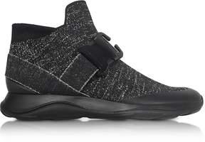 Christopher Kane High top Black & Silver Lurex Sneaker