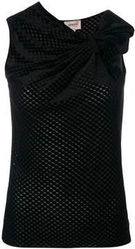 Armani Collezioni sleeveless bow top