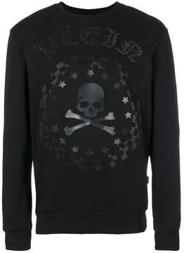 Philipp Plein crystal skull sweatshirt