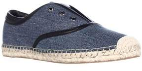 Elie Tahari Mako Slip-on Laceless Espadrille Flats, Denim/black.