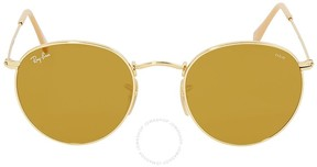 Ray-Ban Brown Photocromic Round Sunglasses RB3447 90644I