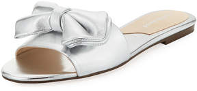 Charles David Slipper Metallic Bow Flat Slide Sandal