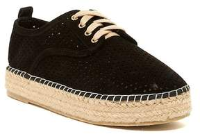 Catherine Malandrino Semi Perforated Lace Platform Espadrille