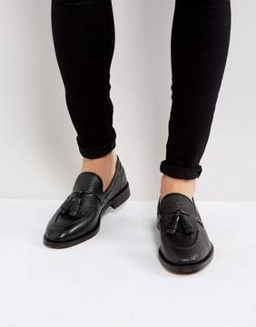 H By Hudson Benedict Grain Leather Tassel Loafers