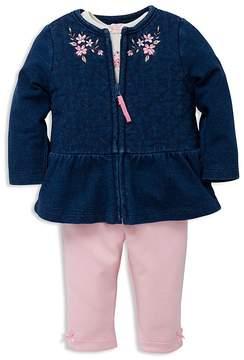 Little Me Girls' Embellished Jacket, Top & Leggings Set - Baby